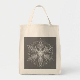 Saco do floco de neve sacola tote de mercado