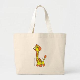 Saco do girafa do bebê bolsa tote grande