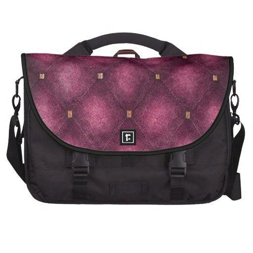 Saco do laptop com a aleta acolchoada rosa bolsas para notebook