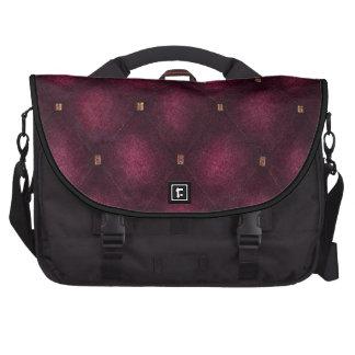 Saco do laptop com rosa escuro a aleta acolchoada maleta para laptop