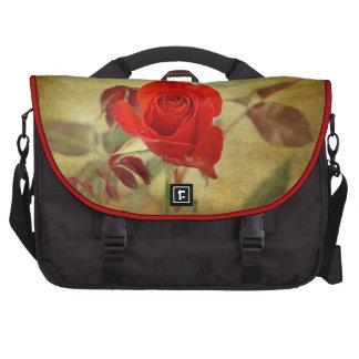 Saco do laptop da rosa vermelha pastas para laptop
