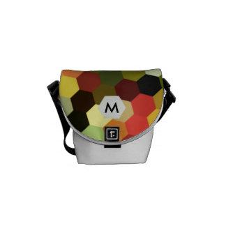 Saco do laptop do monograma de Brights do favo de Bolsas Mensageiro