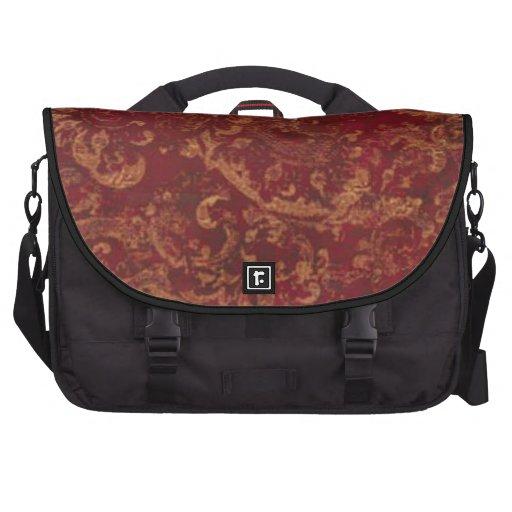 Saco do laptop no damasco velho do vermelho & do o bolsas para notebook