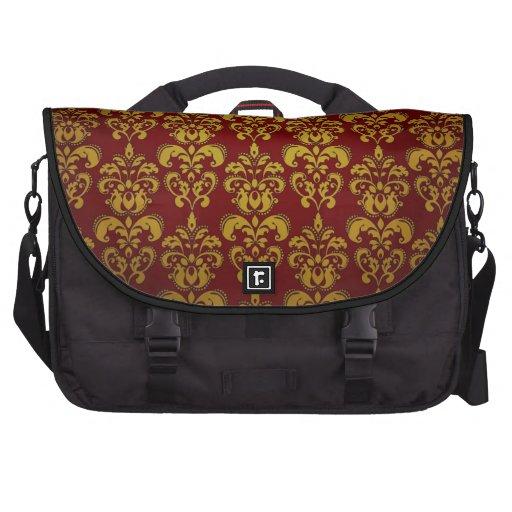 Saco do laptop no vermelho & no ouro bolsa para laptops