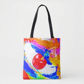 Saco do mercado da cereja bolsas tote