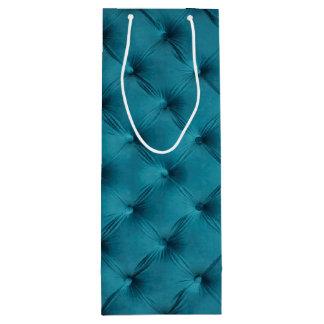 Saco do presente com cerceta, capitone azul sacola para vinho