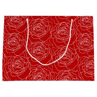 Saco do presente da rosa vermelha (grande) sacola para presentes grande