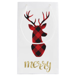 Saco do presente de época natalícia sacola para presentes pequena