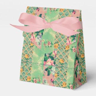saco do presente do papel de parede floral do lembrancinhas para casamento