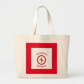 Saco do tecido do logotipo da lareira de Nanna Bolsa Tote Grande