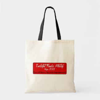 Saco do vermelho de TFMU Sacola Tote Budget