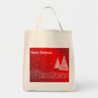 saco do vermelho do Feliz Natal Bolsa Tote