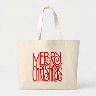 Saco do vermelho do Feliz Natal Bolsa Para Compra