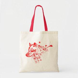Saco do vermelho do lobo sacola tote budget