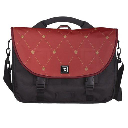 Saco do vermelho, o dourado e o preto do laptop pasta para notebooks