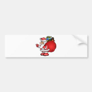 Saco e apontar do carregando de Papai Noel dos Adesivo Para Carro