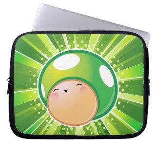 Saco extra dos eletrônicos do cogumelo da vida capa de computador notebook