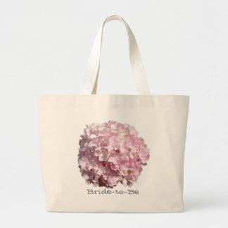 Saco floral cor-de-rosa do casamento do Hydrangea Bolsa Tote Grande