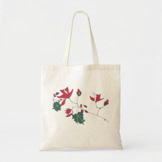 Saco floral vermelho bolsa