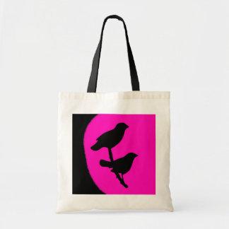 Saco gêmeo razberry preto cor-de-rosa da forma dos bolsas de lona