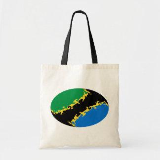Saco Gnarly da bandeira de Tanzânia Bolsa Para Compras