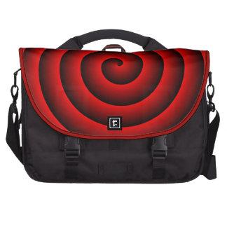 Saco hipnótico preto vermelho do laptop mala para laptop