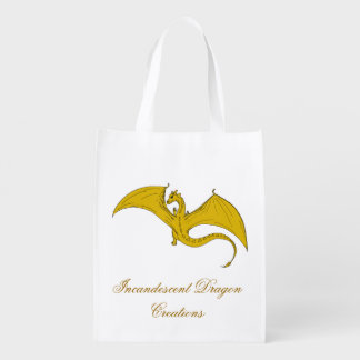 Saco incandescente 2 do dragão do ouro das sacolas reusáveis