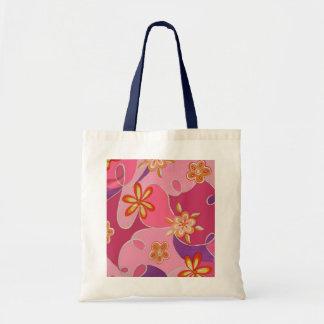 Saco jazzístico cor-de-rosa do design para ela sacola tote budget