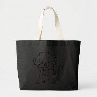 Saco maltês do cão bonito dos desenhos animados bolsa