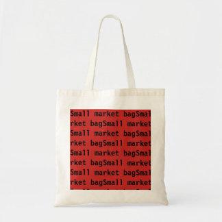 Saco pequeno vermelho bolsa tote