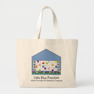 Saco pré-escolar azul pequeno bolsa de lona