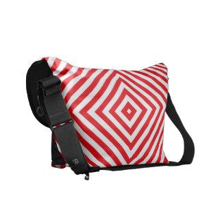 Saco preto popular do rickshaw das cores vermelhas bolsa mensageiro