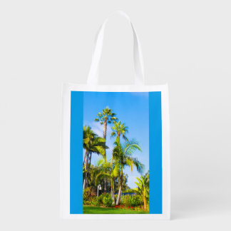Saco reusável com imagem da grama das palmeiras sacola ecológica