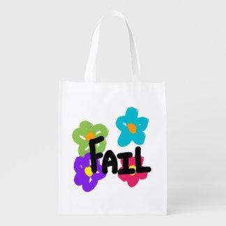 Saco reusável da falha - flor sacolas ecológicas para supermercado