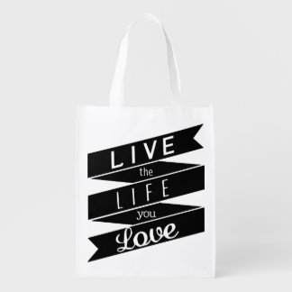Saco reusável das citações inspiradores inspiradas sacola ecológica para supermercado