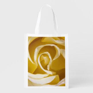 Saco reusável do rosa amarelo sacolas ecológicas para supermercado