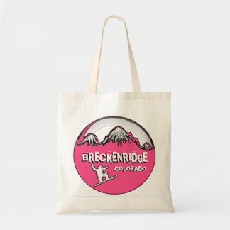 Saco reusável do snowboard cor-de-rosa de Breckenr Sacola Tote Budget