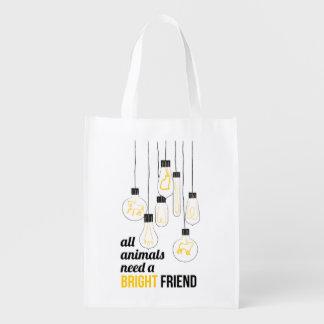 Saco reusável dos amigos peludos sacolas ecológicas
