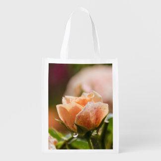 Saco reuseable do rosa do rosa sacola ecológica para supermercado