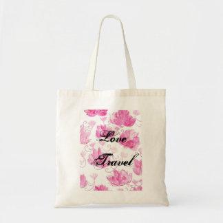 Saco romântico dos rosas sacola tote budget