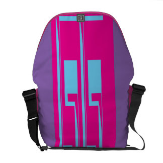Saco roxo, cor-de-rosa, azul do mensageiro bolsas mensageiro