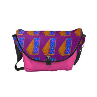 Saco roxo da baga conhecida feita sob encomenda & bolsa mensageiro