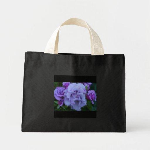 Saco roxo dos rosas bolsa para compra