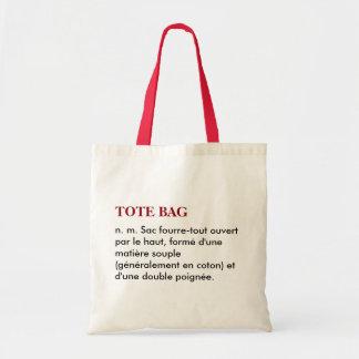"""Saco """"Tote bag"""" definição - branco/vermelhos Sacola Tote Budget"""