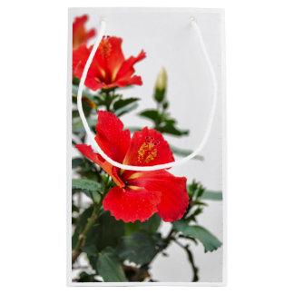 saco tropical Vermelho-alaranjado do presente do Sacola Para Presentes Pequena