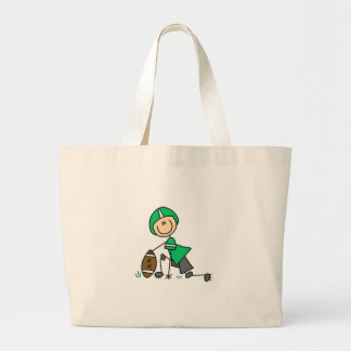 Saco verde do jogador de futebol sacola tote jumbo