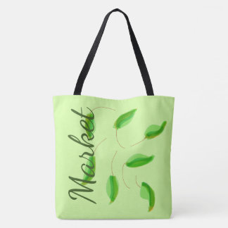 Saco verde do mercado de produto bolsas tote