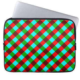 Saco verde vermelho à moda do laptop do teste capa para notebook
