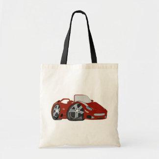 Saco vermelho da arte do carro de esportes dos des sacola tote budget
