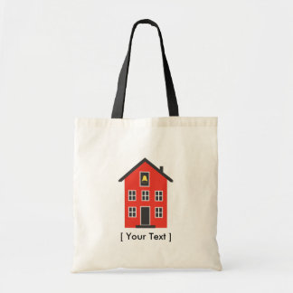 Saco vermelho da casa da escola sacola tote budget